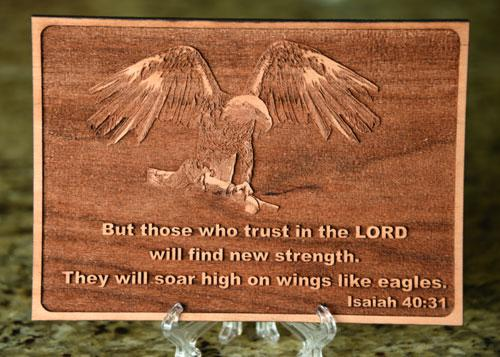 Laser Engraving Photo Eagle